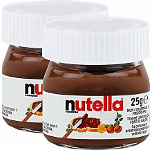 Ferrero Nutella Kleines Mini Design Glas 2er Set a