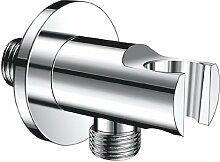 FERRO Armatur, Fixfit Schlauchanschluss Eckanschluss mit Brausegriff Brausehalter chrom, model PKN04