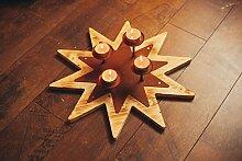 FERRUM ART Stern Teelichthalter Adventskranz
