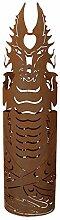 Ferrum FEUERDRACHE 123cm Gr. II Edelrost Holz