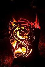 Ferrum Feuerkorb Drache viereckig Feuerstelle