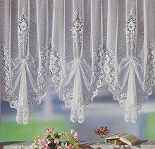 Fertiggardine, Vorhang, Gardine reinweiß mit