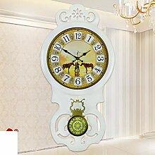 FERZA Home Wohnzimmer Vintage Silent ClockCreative