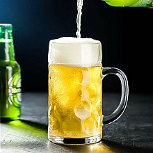 Feste 1000ML Schwere Große Bierglas mit Griff
