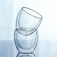 Feste Glas-Kaffeetasse Durchsichtige,