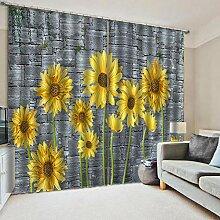Feste Isolationsvorhänge Blume Drucken Polyester