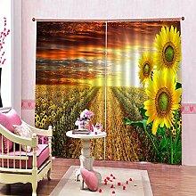 Feste Isolationsvorhänge Sonnenblume Drucken