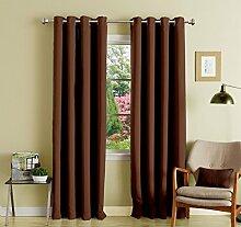 festes Muster lushomes Öse Ebene dekorative Vorhänge Verdunkelungs Tür- / Fenster drapers - Satz von 2 Stück