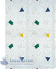 FESTIVAL Duschvorhang PEVA 180 x 200 cm weiß/grau/blau/grün/rot/gelb Dreiecke