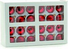 Festive 48 TLG Christbaumkugel-Set, Glas,