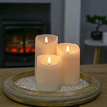 Festive Lights Echtwachs LED Kerze mit