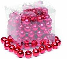 Festive Perlen-Girlande, 2,7m, glänzend, Ro