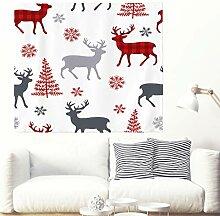 Festlich Weihnachten Hirsch Schneeflocken Baum