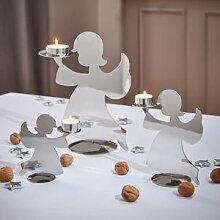 Festliche Engel-Kerzenhalter aus reflektierendem