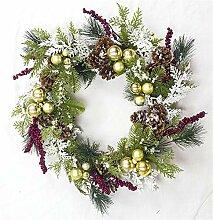 Festlicher Weihnachtskranz, künstliche Blumen