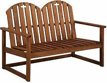 Festnight 2-Sitzer-Gartensofa | Holz Gartenbank |