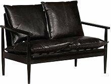 Festnight 2-Sitzer-Sofa | 2er Echtes Leder Couch |