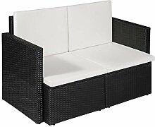 Festnight 2-Sitzer-Sofa   Garten Lounge Sofa  