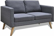 Festnight 2-Sitzer-Sofa Stoffsofa Couch 2-Sitzer