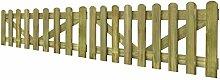 Festnight 2 Stücke Doppelflügeltor 300x60cm Doppeltor aus Imprägniertes Holz Gartentor Zauntür Hoftor für Garten Terrasse Hof