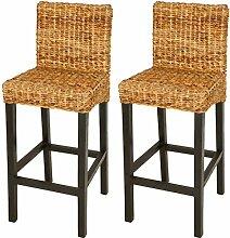 Möbel & Wohnaccessoires Festnight Stuhl Bar-Set der 2-braun und schwarz-Material Leder und Eisen