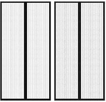 Festnight 2x Insektenschutz Türvorhang Fliegennetz Mückenschutz Magnetvorgang für Balkontür Wohnzimmer Terrassentür