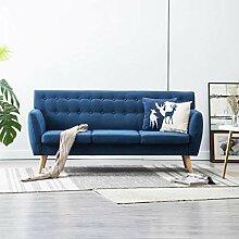 Festnight 3-Sitzer-Sofa | 3er Stoff Couch |