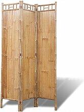 Festnight 3-teilig Bambus Raumteiler Paravent mit