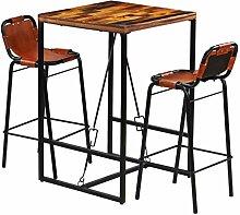 Festnight- 3-teilige Bar-Set Bar Sitzgruppe aus
