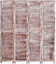 Festnight 4-TLG. Raumteiler Braun 140×165 cm Holz