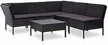 Festnight 6-TLG. Garten-Lounge-Set mit Auflagen
