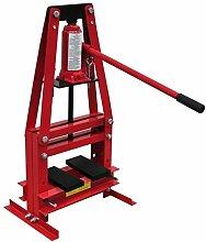 Festnight 6T Hydraulische Werkstattpresse Pressdruck 6 Tonnen Hydraulikpresse 400x320x745mm 2-fach Verstellbar für Werkstatt Garage Industrie