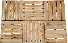Festnight- 8er Set Terrassenfliesen Braun Holz 50