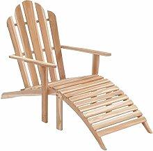 Festnight- Adirondack Stuhl mit Fußstütze  
