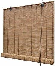 Festnight Bambusrollo Fenster Sichtschutz