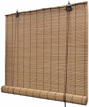 Festnight Bambusrollo mit Seitenzug ohne Bohren