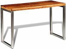 Festnight Bartisch aus Sheesham-Holz Tischplatte