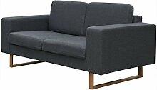 Festnight Bequeme Sofa 2-Sitzer-Sofa Couch