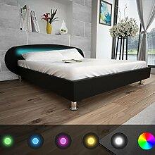 Festnight Bett Kunstlederbett Holz Bettgestell