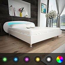 Festnight Bett Kunstlederbett Holz Doppelbett