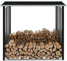 Festnight Brennholzlager Verzinkter Stahl