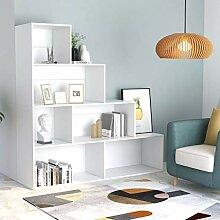 Festnight Bücherregal/Raumteiler Weiß 155 x 24 x