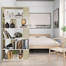 Festnight Bücherregal/Raumteiler Weiß