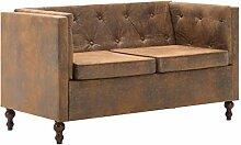Festnight Chesterfield-Sofa 2-Sitzer | | 2er