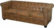 Festnight Chesterfield Sofa 3-Sitzer-Sofa Couch