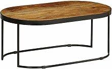 Festnight Couchtisch Oval | Holz Wohnzimmertisch |