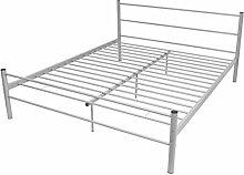 Festnight Doppelbett Metallbett Gästebett Bett