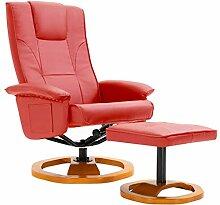 Festnight Drehbarer TV-Sessel mit Fußhocker