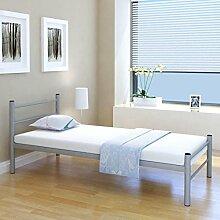 Festnight Einzelbett Bettgestell Metallbett Bett