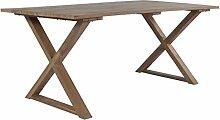 Festnight Esstisch mit X-Rahmen | Garten
